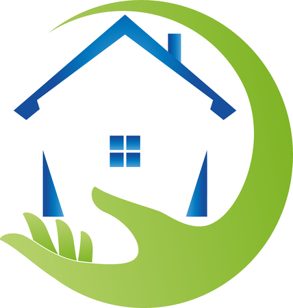Hand and house, real estate, real estate agent