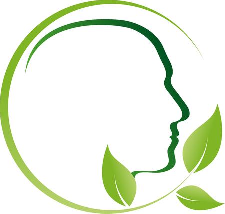 Mensen, gezicht, hoofd, bladeren