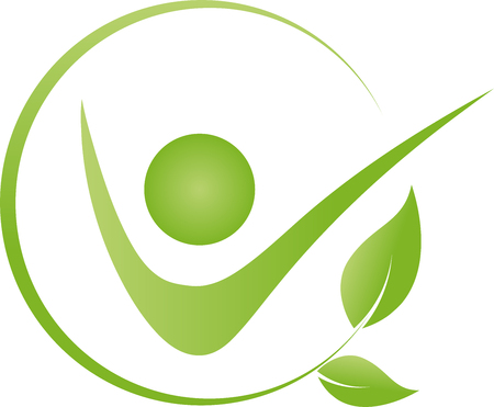 Human and leaves chiropractor, naturopath, fitness