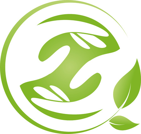 naturopath: Two hands and leaves, chiropractor, naturopath