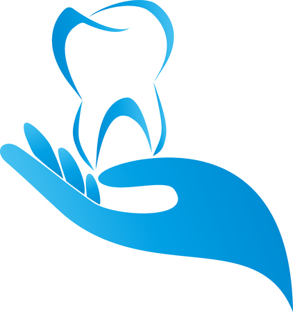 Tooth and hand dentist, illustration