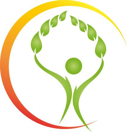 naturopath: Human, leaves, naturopath, fitness Illustration