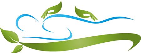 naturopath: Human, hands, massage, naturopath, illustration