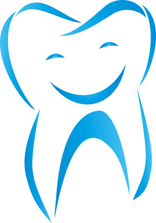 Tooth, Smiling, Laughing, Dentist Stock Illustratie