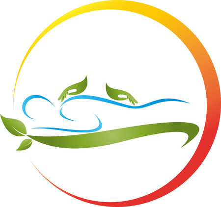Human, hands, massage, naturopath, sun