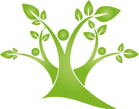 Tree, plants, leaves, people, naturopath