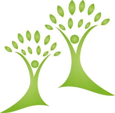 Plants, leaves, people, naturopaths, trees