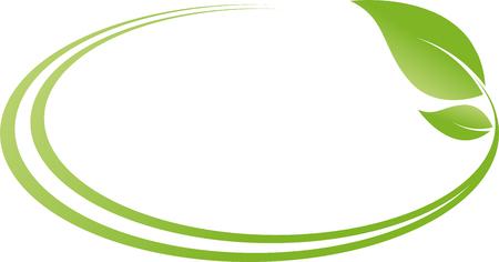 Circles, leaves, plant, naturopath, nature Stock Illustratie