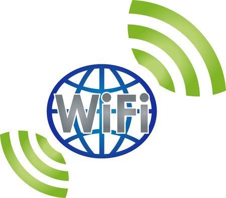 Wi-Fi, WIFI, network, connection, globe Illustration