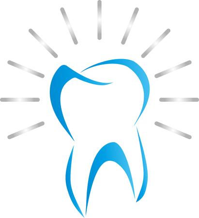 치아, 파란색, 치과 그림에서 치아 일러스트