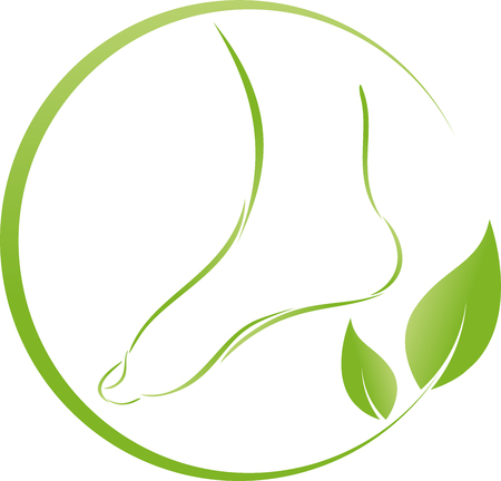 Foot and leaves, plant, foot care
