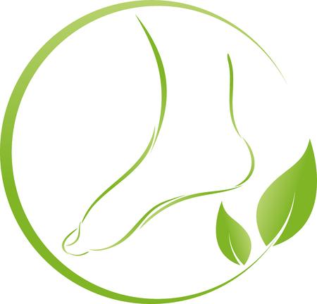Voet en bladeren, planten, voetverzorging