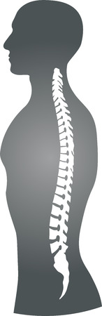 Person and spine, orthopedics, physiotherapy vector