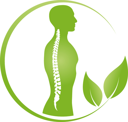 Person and spine, orthopedics, physiotherapy vector 版權商用圖片 - 89178442