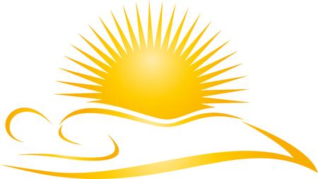 Persona y sol, salón de bronceado, vector solarium