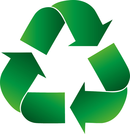 Recycling arrows, recycling signs, recycling