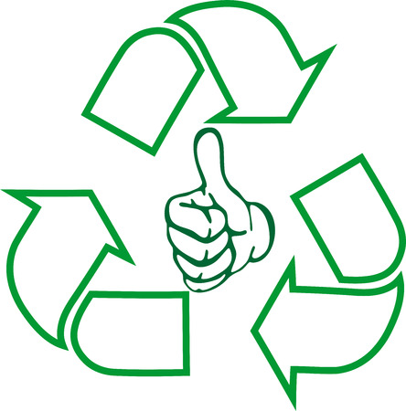 Recycling arrows, recycle signs, recycling, hand Illustration