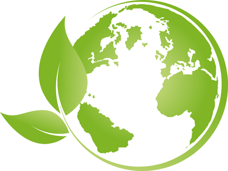 Earth, globe, world globe, recycling, leaves