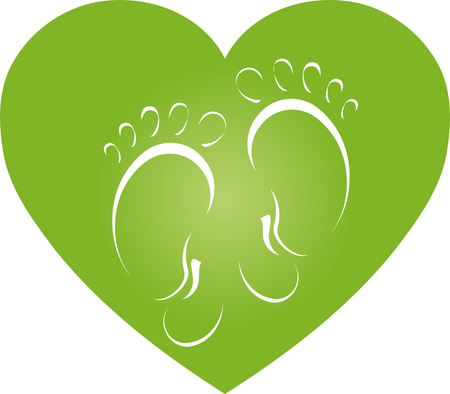 Two feet and heart, feet, heart, foot care