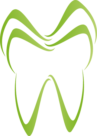 Tooth, dentist, dental care, sign. Illustration
