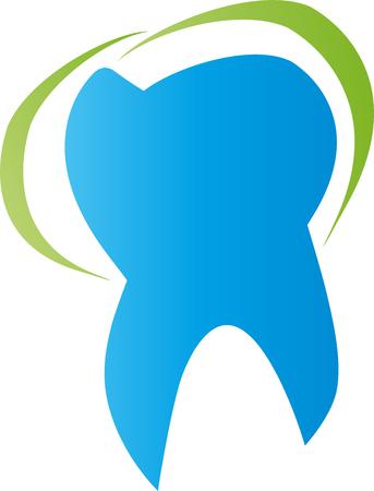 Tooth, dentist, dental care, sign. Vettoriali