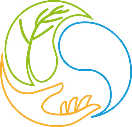 Hand, Drop, Leaf, Wellness, Massage, Icon
