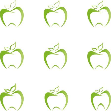 Apple, dental care, food advice, collection