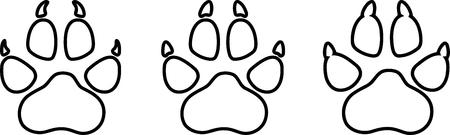 Hondenpoot, poot, honden, stickerlabel
