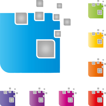 Dice, pixels, data, IT services  イラスト・ベクター素材
