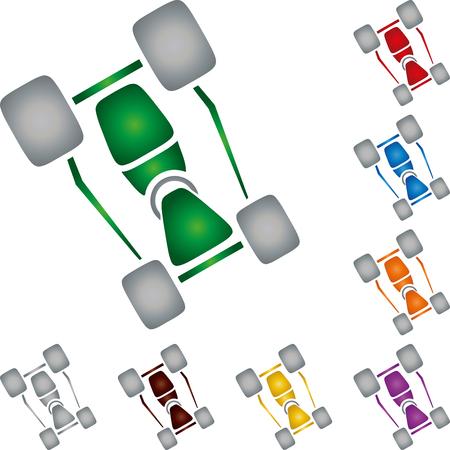 Kart, car, sport car collection