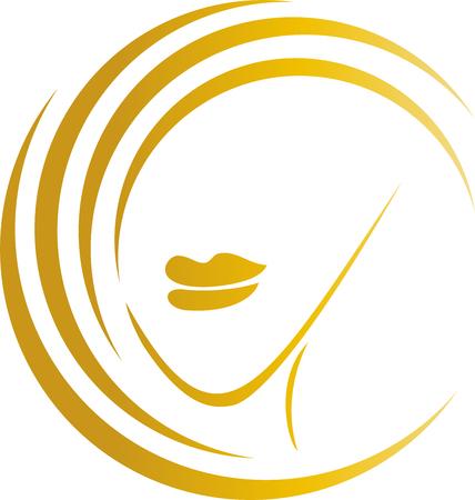 Hair, woman, hairdresser, cosmetics Illustration