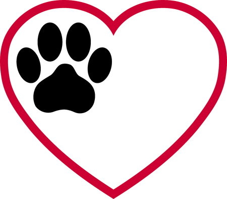Heart, cats paw, paw, cats