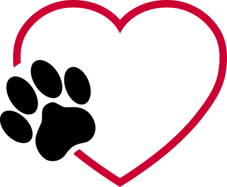 Cats paw, heart, paw, cats