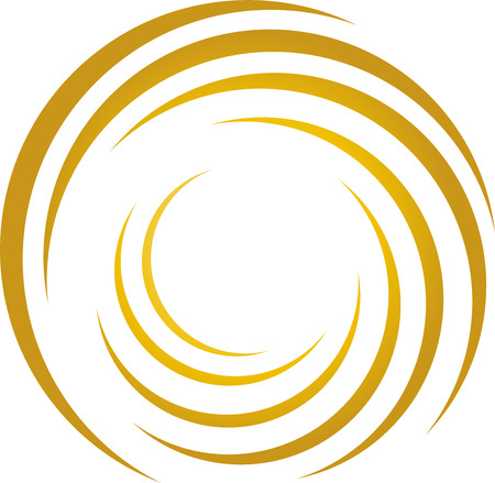 Spiral, gold, finances, money  イラスト・ベクター素材