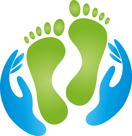 Feet, hands, pedicure, massage, physiotherapy 일러스트