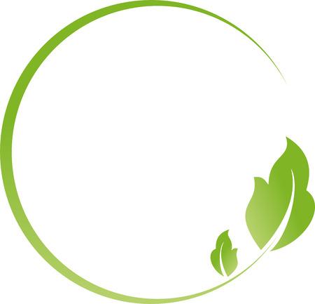 Circle and leaves, alternative practitioner, gardener, wellness