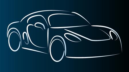 Car, sports car, background  イラスト・ベクター素材