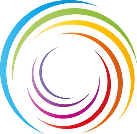 Spiral, rainbow, painter