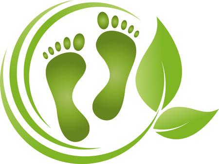 Füße, Blätter, Fußpflege, Podologie