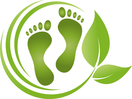 Feet, leaves, foot care, podiatry Banque d'images - 117795974