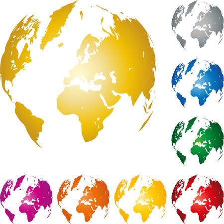 Earth globe, earth, globe, world map globe  イラスト・ベクター素材