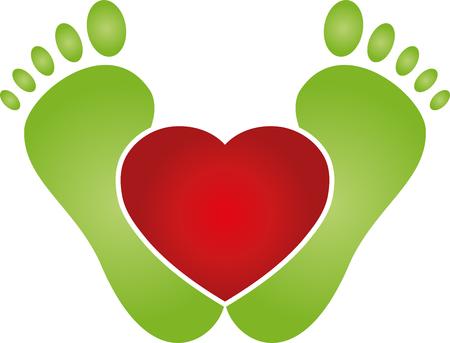 Füße und Herz, Fußpflege, Lifestyle Vektorgrafik