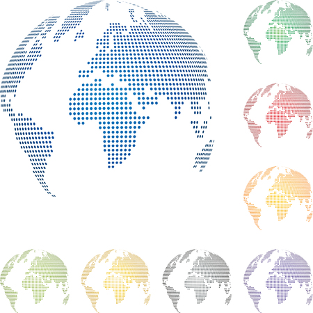 Globe, globe, points, collection, world map globe