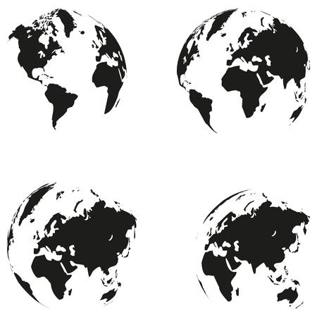 Earth globe, earth, globe, collection, world map globe