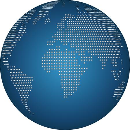 Earth globe, globe, points, world map globe
