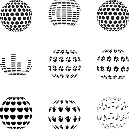 Design elements, collection, abstract sphere