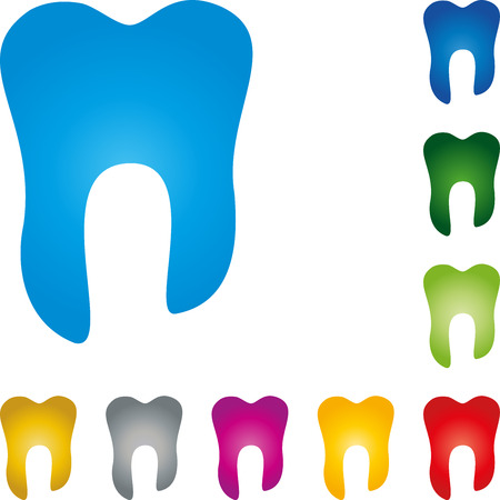 Teeth collection in color, tooth, dentistry, dentist