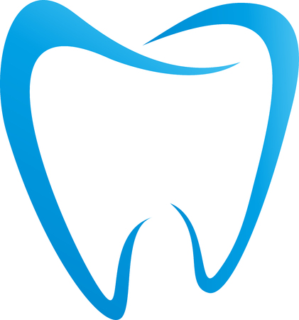 Tooth in blue, dentistry, dental care, dentist