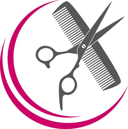 Scissors, comb, barber and lifestyle background