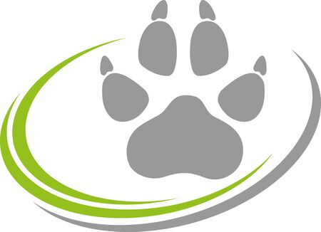 Paw and circles icon